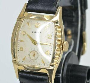 "1955 Mens Vintage Bulova Senator ""B"" (L7) 10k Gold RGP Cal. 11AC - 17J - Running"
