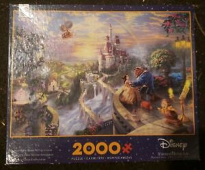 Thomas Kinkade Beauty and the Beast 2000 Piece Jigsaw Puzzle Brand New Disney