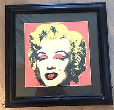 Andy Warhol Marilyn Monroe 1967 Red Print Painting in Black Wood & Glass Frame