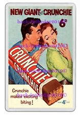 FRY'S GIANT CRUNCHIE BAR ADVERT ART NEW JUMBO FRIDGE / LOCKER MAGNET