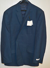 (44R) NEW Calvin Klein Men's Blue Stripe Flat Front Suit Jacket Blazer
