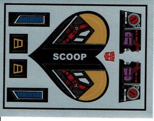 TRANSFORMERS GENERATION 1, G1 AUTOBOT SCOOP REPRO LABELS