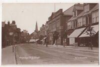 Weybridge High Street Surrey, Southern Series RP Postcard, B734