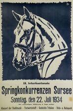 Original Plakat - Springkonkurrenzen Sursee