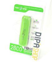 Batteria Esterna Power Bank Portatile TekOne 2800mah Smartphone Tablet Verde hsb