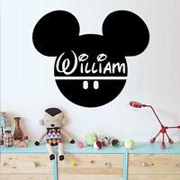Wall Stickers custom baby name Mickey mouse head vinyl decal decor Nursery kids