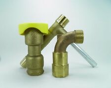 """3/4"""" COMMERCIAL QUALITY BRASS QUICK COUPLER VALVE , MATCHING KEY AND HOSE SWIVEL"""