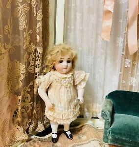 "Vintage embroidery Pale Peach&Beige/cotton French dress/mignonette dolls 5""-5.5"""