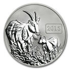 2015 Tokelau 1 oz Silver $5 Year of the Goat Reverse Proof - SKU #84370