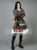 Deluxe Alice Madness Returns Steamdress Cosplay Costume & Necklace Gift mp000304