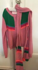 BOUTIQUE MIM PI 134 8/9 Cardigan & Scarf NWT Multi Color Cotton