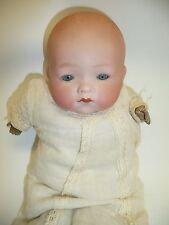 """10"""" German Dream Baby Am 341/8 w/Blue Sleep Eyes, Original Dress & Body 9"""" Circ."""