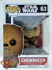 "CHEWBACCA Star Wars The Force Awakens Pop Movies 4"" Vinyl Bobble Head #63 2015"