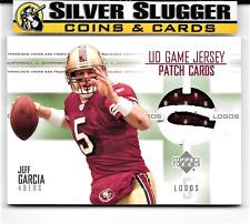 2003 UD Game Jersey Patch Cards Logos Jeff Garcia