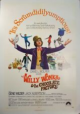 1971 Willie Wonka & The Chocolate Factory One Sheet Movie Poster Vintage