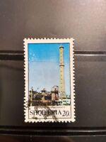 Albania rare stamp 1970 industrial power(Lac-Uzina e Superfosfatit)one value 20q