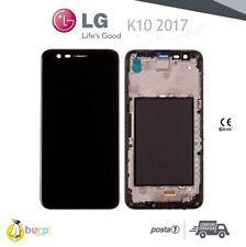 DISPLAY LCD + FRAME + TOUCH SCREEN PER LG K10 2017 M250 M250N SCHERMO VETRO NERO