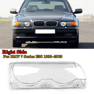 1PC Car Clear Headlight Headlamp Lens Cover Shell For BMW E38 1999-2001 Right