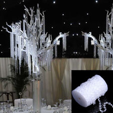 30m Wedding Acrylic Garland Strands Diamond Crystal Bead Chandelier Hanging Deco