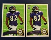 2011 Topps # 274 TORREY SMITH ROOKIE RC Lot 2 Baltimore Ravens Maryland Look !