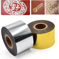 120m Hot Foil Stamping Paper Roll For DIY Craft Leathercraft PU Leather Embosser
