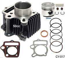 50cc Cylinder Gasket Kit 39mm Piston Pin Ring Set for ATV Go Kart Dirt Bike