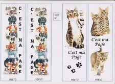 2 marque-pages plastifiés Thème CHAT lot N°49