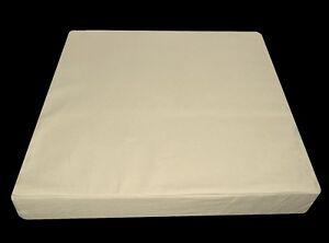 la08t Beige/Ivory High Quality Cotton Canvas 3D Box Seat Cushion Cover Custom