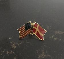 Danish-American Flags Friendship Pin