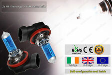 2x H11 55W White Xenon Gas Halogen HID Look Fog Bulbs Main Headlamps Dipped Lamp