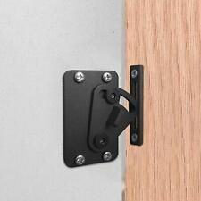 Steel Door Latch Sliding Door Lock for Sliding Barn Wood Door Gate Black