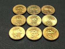 Malaysia 1 Ringgit RM1 Keris gold coin complete 9pcs 1989 - 1996 UNC BU