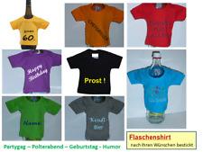 Flaschenshirt Mini Shirt Geschenk + Wunschtext bestickt Gag Party Flasche Shirt