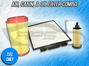 AIR, CABIN, & OIL FILTER COMBO FOR 14-20 RAM PROMASTER 1500 2500 3500 3.6L ONLY