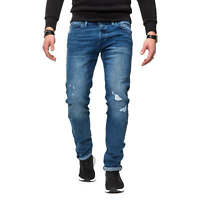 Jack & Jones Herren Jeans Slim Fit Stretch Distressed Denim Herrenhose SALE %