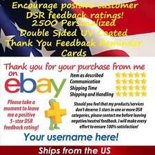2500 DS UV GLOSS CLASSIC DESIGN eBay CUSTOM 5 STAR DSR SELLER THANK YOU CARDS