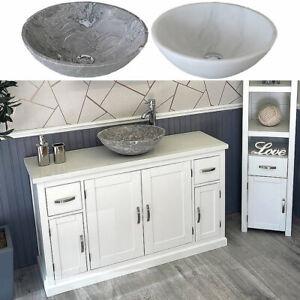 Bathroom Single Vanity Off White Painted Cabinet White Quartz Marble Basin 402P