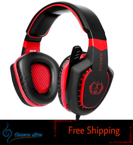 Gaming Headset Bass Surround Sound Stereo PS4 Headset PS4 Xbox One Laptop PC Mac