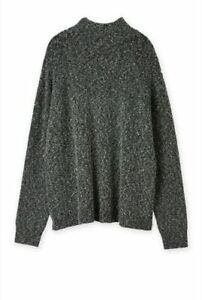 Country Road Italian Wool Tweed Split-Back Knit *NEW W TAGS $219* Marle 10-18 XL