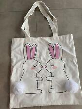 New Forever 21 Bunny Pom Pom Tote Bag