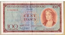 More details for luxembourg banknote 100 p50 1956 gvf- aef