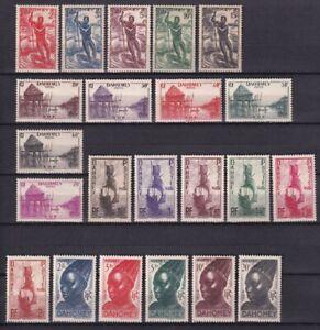 Dahomey 1941, Native Scenes ,Scott # 113-134, VF MLH* (FR-1)