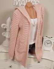 Peluche Cardigan grosses oversize 40 42 44 Tricot Veste Rose manteau vintage