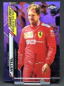 Topps Chrome F1 Sebastian Vettel Ferrari Card Formula 1 One #160 Purple