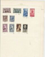 italy 1954 stamps   ref 10727
