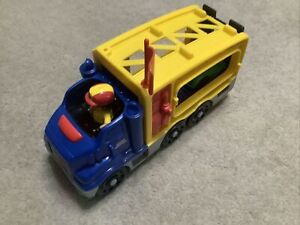 2008 Fisher Price Mattel Little People Car Transporter With Sound Effects