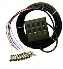 Pro Co Sound StageMASTER 8x4 50 ft audio snake with XLR returns - SMC0804FBX-50