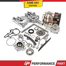 Toyota 22R 22RE Timing Chain Kit w/ 2 Metal Guides Timing Cover Water Oil Pump