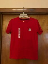 Carhartt Boy's Pocket T-Shirt Red Size X-LARGE 18/20  NWT FAST SHIPPING