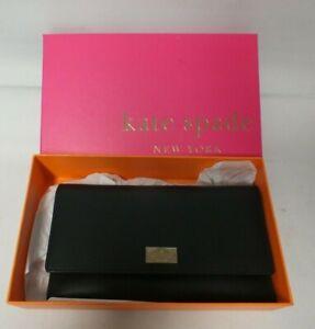 Kate Spade Boxed Black Leather Wallet/Purse (Hea)